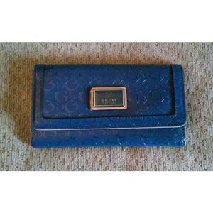 Medium Sized Blue 3D G Print G By Guess Wallet